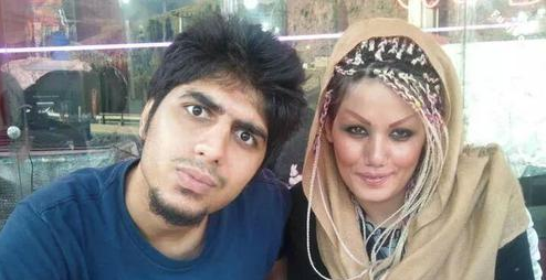 رضا پیشرو و همسرش