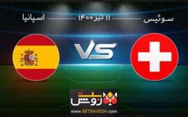 آنالیز بازی سوئیس و اسپانیا 11 تیر 1400